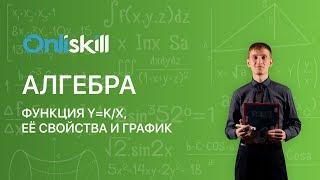 Алгебра 8 класс :  Функция y=k/x, её свойства и график.