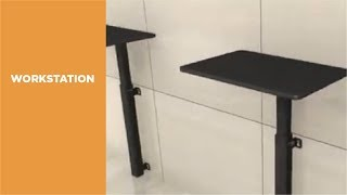 Height Adjustable Wall Mounted Sit Stand Workstation Wws06 01 Lumi Youtube