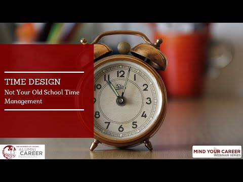 Time Design  Not Your Old School Time Management