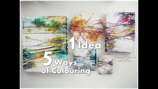 1 Idea 5 Ways of Coloring Texture for Beginners ♡ How to Break a Blank Canvas ♡ Maremi's Small Art ♡