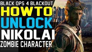 HOW TO UNLOCK NIKOLAI - BLACKOUT ZOMBIE CHARACTER TUTORIAL GUIDE Unlock Blackout Characters