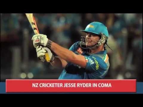 NZ CRICKETER JESSE RYDER IN COMA