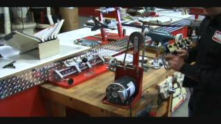 scissor sharpening with the viel sander grinder s5 m and the s 10 accessory
