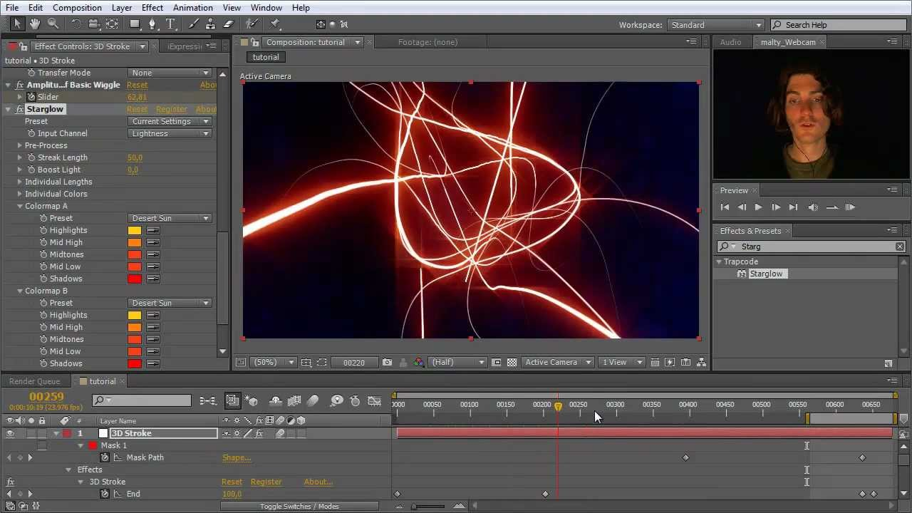 After effects tutorial intro with trapcode 3d stroke english youtube