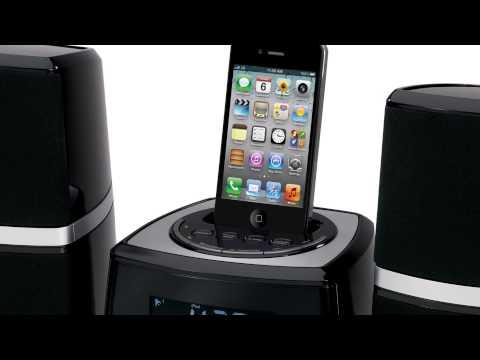 Jensen JiMS-252i iPod/iPhone Docking Stereo System w/Pivoting Speakers