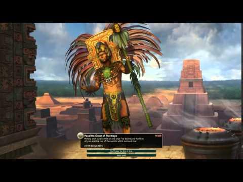 Civilization V Leader | Pacal of The Maya: Declares War