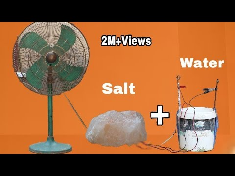 free energy | how to turn salt water into electricity |free energy generator
