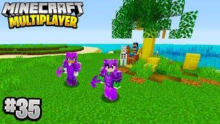 HUGE ISLAND PROJECT in Minecraft Multiplayer Survival! (Episode 35)