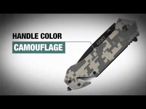 Army Rescue Assisted Opening Pocket Knife - Knife-depot.com