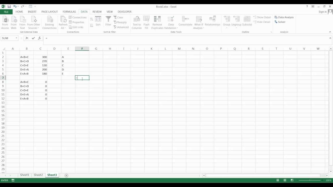 How to use Excel Solver to solve systems of equations - YouTube