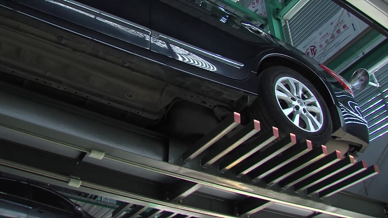 Design of car parking - Comb Type Fully Automatic Car Parking System