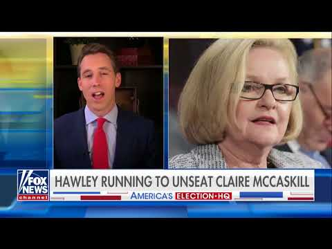 Josh Hawley talks to Fox about unseating Claire McCaskill