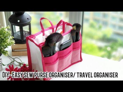 DIY- How to sew Purse Organizer/ Travel organizer (for beginners)