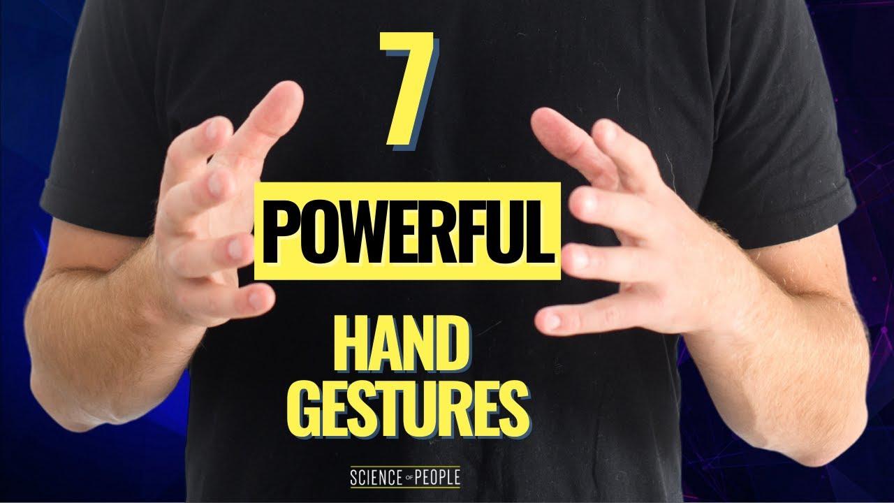 20 hand gestures you