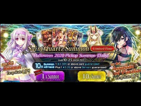 Banner summon showcase halloween fantasia (apr 2021).png. FGO Halloween 2020 Pickup Summon (Daily - YouTube