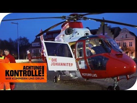 Notfall! Rettung eines Herzpatienten mit dem Hubschrauber! | Achtung Kontrolle | kabel eins