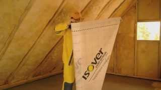 Утепление крыши минеральной ватой ISOVER(Как утеплить крышу и снизить расходы на отопление зимой? Подробная инструкция по использованию минерально..., 2014-04-07T07:11:26.000Z)