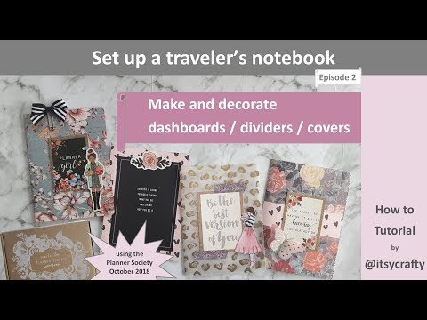DIY planner dashboards | DIY planner dividers | How to set up a TN | Using the TPS Oct kit | Part 2