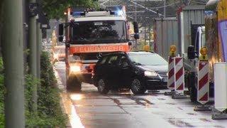 ++SPECIAL++ HLF mit Lautsprecherdurchsage (Staudurchfahrt) + Reserve KDOW + DLK BLW 1 Frankfurt a.M