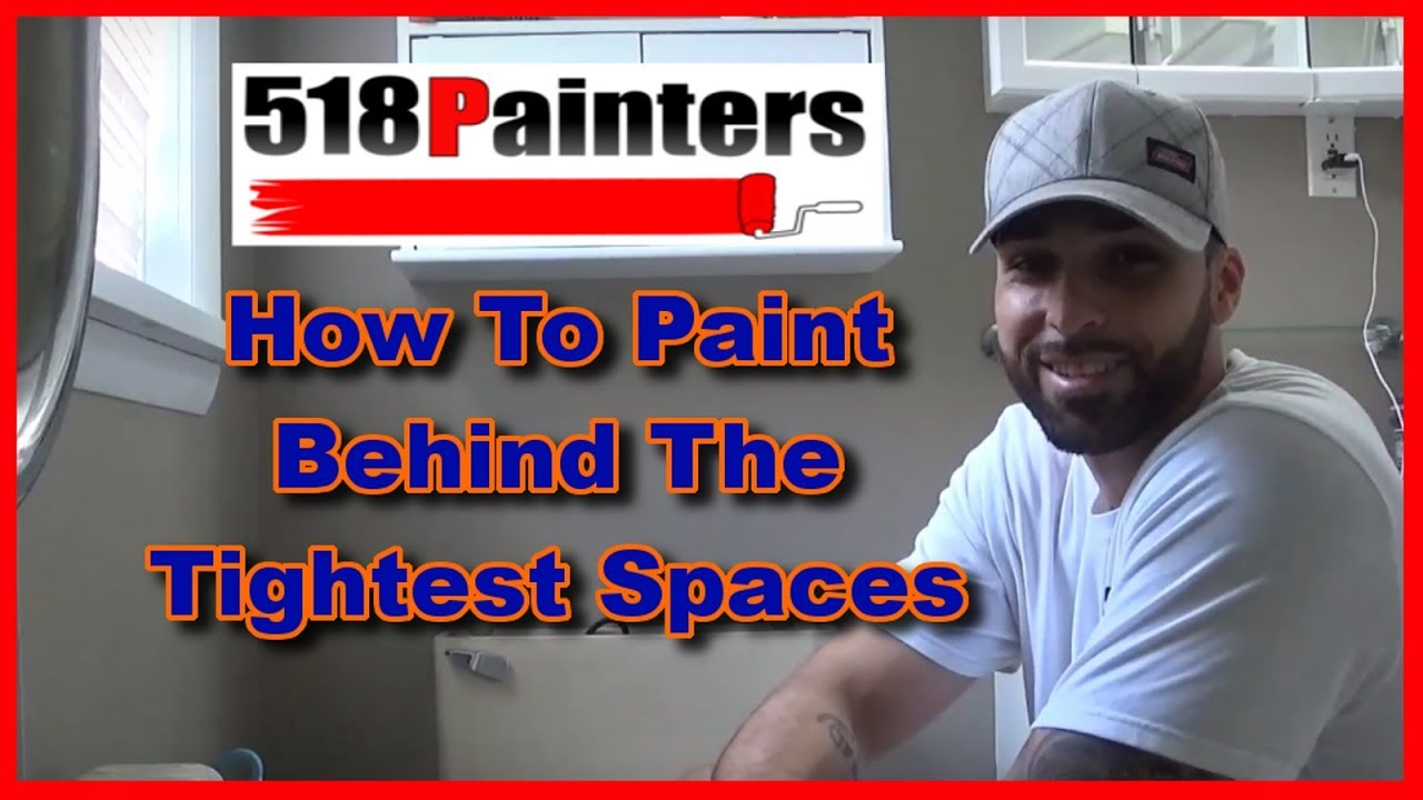 How To Paint Behind A Toilet Tips And Tricks Youtube