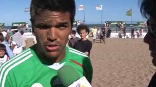 TV AZTECA DEPORTES EN SUDAMERICA FUTOBOL PLAYA MEXICO EN BUENOS AIRES