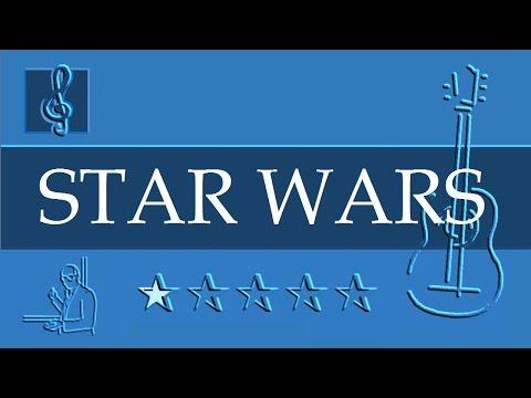 Acoustic Guitar Notes Tutorial - Star Wars - Main Title (Sheet music)