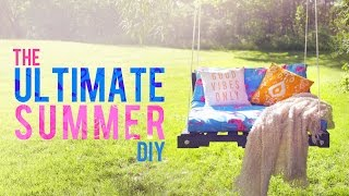 DIY OUTDOOR PALLET SWING | THE SORRY GIRLS