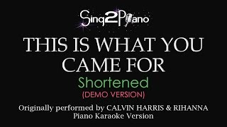 This is What You Came For (Piano karaoke demo) Calvin Harris & Rihanna