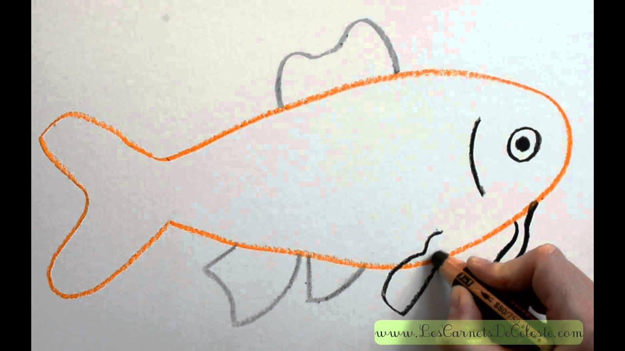 Comment dessiner un poisson ko youtube - Dessiner des poissons ...