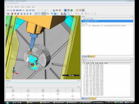 NCG CAM 5 - axis Finish Machining - Impellor
