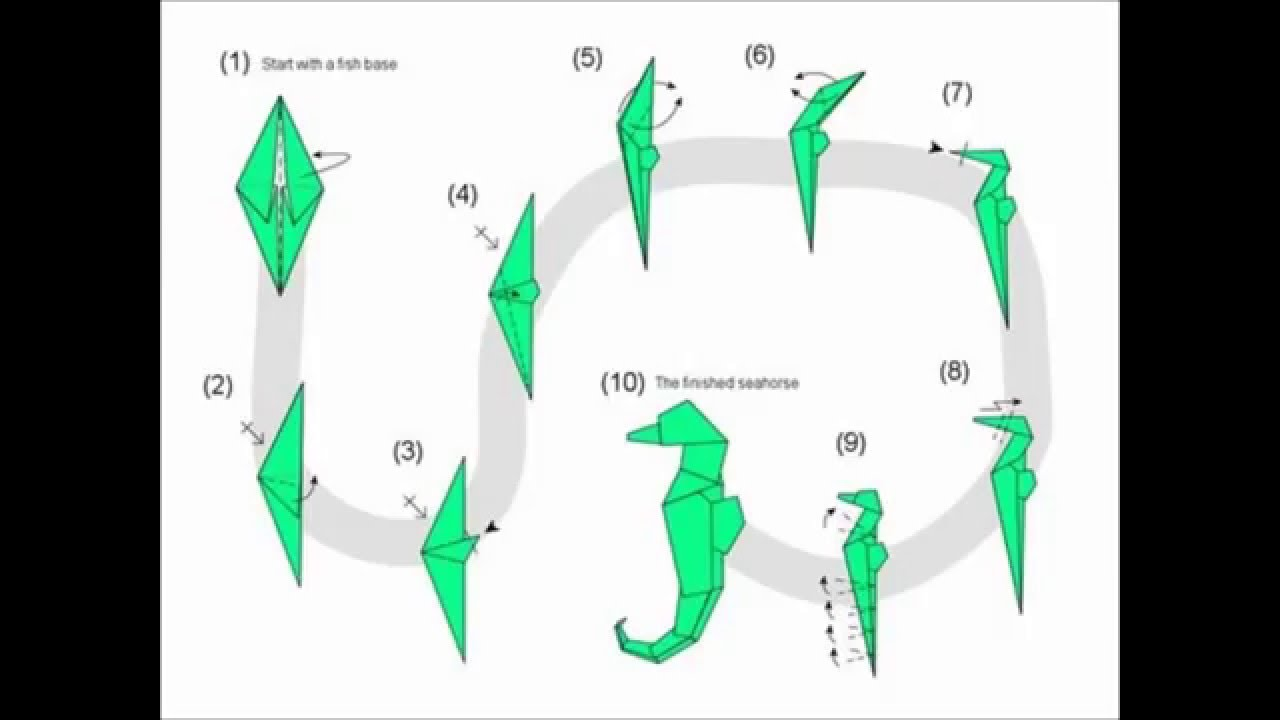 how to make a origami seahorse youtube