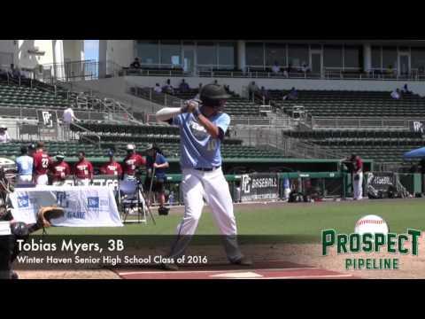 Tobias Myers Prospect Video, 3B, Winter Haven Senior High School Class of 2016