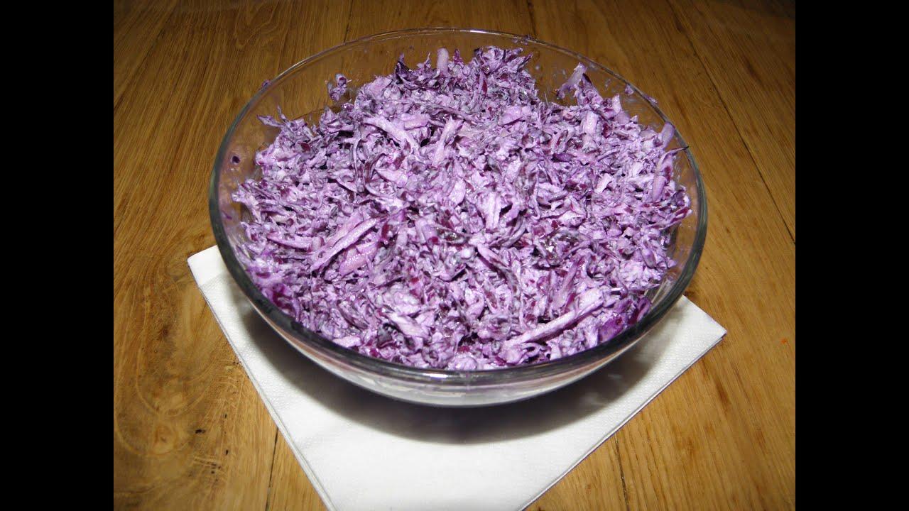 Рецепты приготовления салатов из краснокочанной капусты