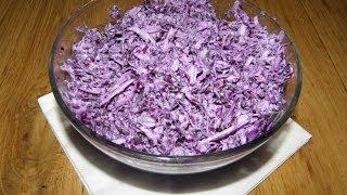 видео Салат из красной и белой капусты