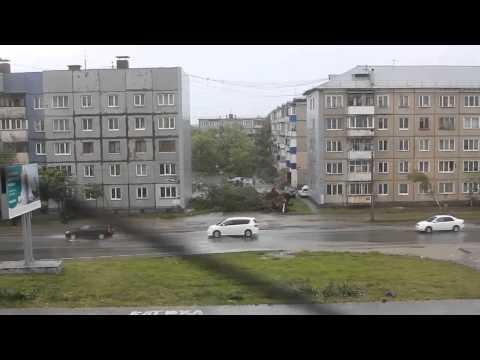 Ураган в Южно-Сахалинске