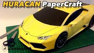 Huracan PaperCraft Build time-lapse.