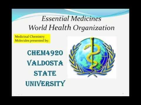 World_Health_Organization_LIst_Medicines_Valdosta_State_University