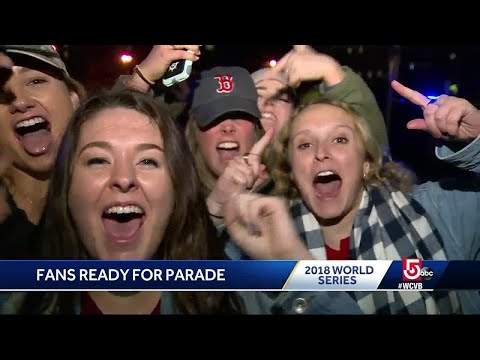Fans celebrate in Boston after World Series win