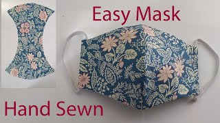 Hand Sewn Face Mask Tutorial | Easy Face Mask | How To Make A Face Mask  | Cómo hacer mascarilla