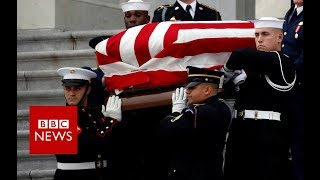America bids farewell to George HW Bush - BBC News