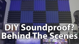 $30 DIY Sound Proofing / DIY Sound Treatment Behind Scenes! Safe, Free, Quick Install in Apartment!