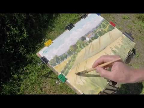 Part 2 Watercolour landscape painting Plein Air.   Paint a landscape