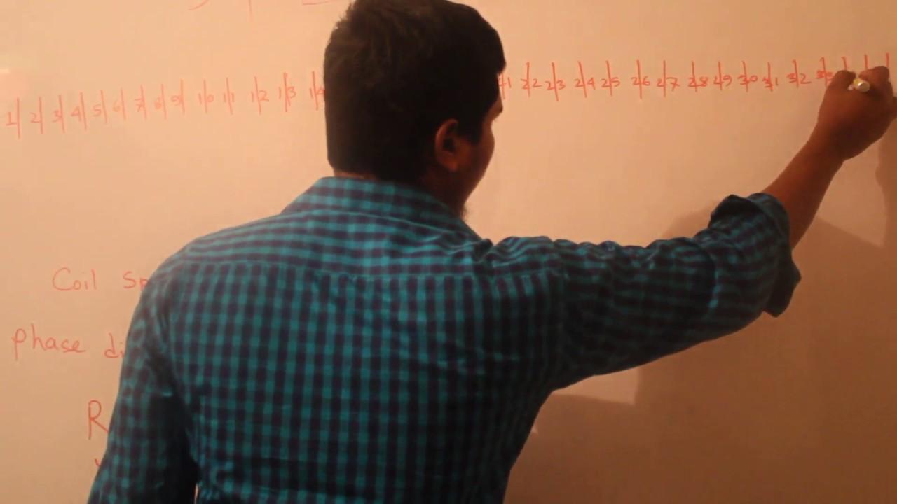 36 Slot 2 Pole 3 Phase Motor Basket Rewinding Diagram In Bangla Start Stop Switch Wiring