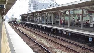 阪急8000系8000F(東芝GTO VVVFインバータ制御車両)  普通梅田行き  王子公園到着→出発