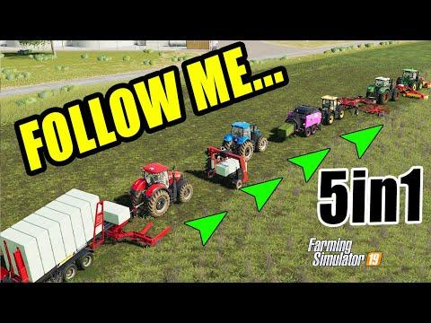 Farming Simulator 19: FOLLOW ME... 5in1, Easy Grass Job!