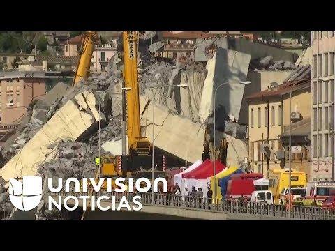 A 39 ascienden los muertos tras el derrumbe de ayer de un puente en Génova, Italia.