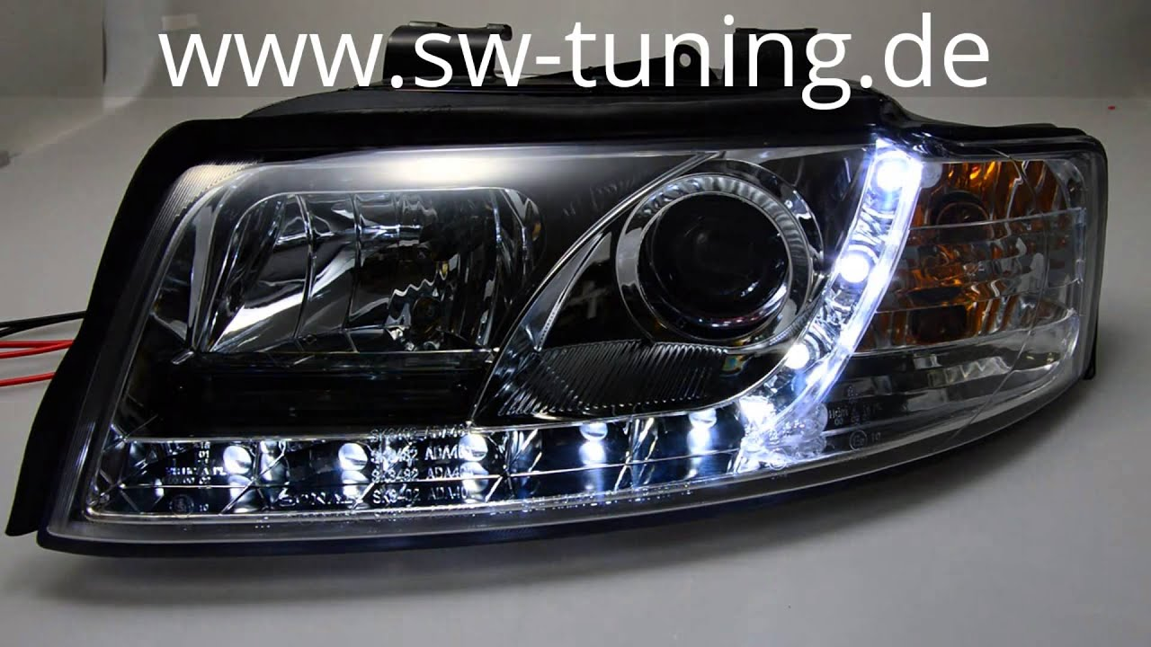 SW-Light Scheinwerfer Audi A4 8E B6 01-04 LED Standlicht chrom SW ...