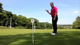 How to get your eyes over the ball when putting