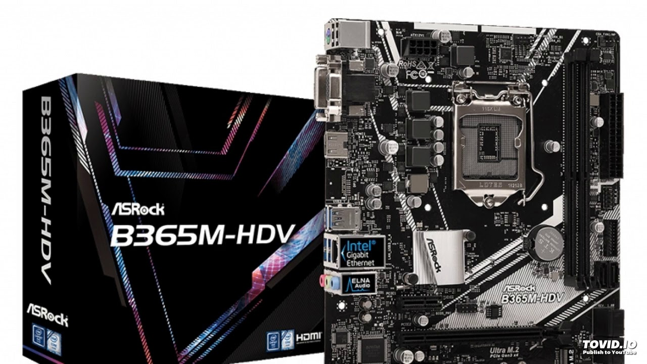 ASRock B365M-HDV: Card for compact PC on Intel Core chip - YouTube
