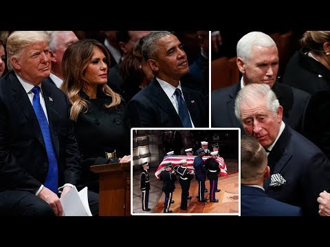 Prince Charles joins Presidents unite to attend George H.W. Bush's state funeral
